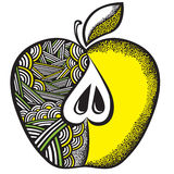 jabłczany dekoracyjny wzór Fotografia Royalty Free