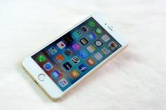 Jabłczany iPhone 6S plus Zdjęcie Stock
