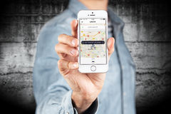 Jabłczany iPhone SE Obrazy Stock