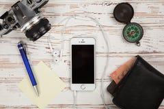 Jabłczany iPhone SE Fotografia Stock