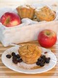 jabłczany klasyczny muffins rodzynki receipe Zdjęcie Royalty Free