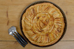 Jabłczany kulebiak Fotografia Stock