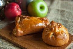 Jabłczany kulebiak Zdjęcia Royalty Free
