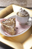 Jabłczany kulebiak i kawa Zdjęcia Stock