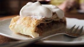 Jabłczany kulebiak, kawiarnia, deser, cukier zdjęcie royalty free