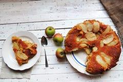Jabłczany kulebiak, tarta Obrazy Royalty Free