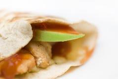 Jabłczany Kurczak Quesadilla Obraz Stock
