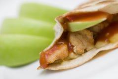 Jabłczany Kurczak Quesadilla Zdjęcia Stock