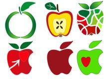 Jabłczany logo Zdjęcie Royalty Free