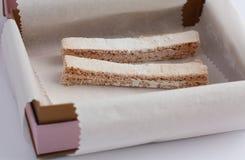 jabłczany marshmallow wtyka dwa Zdjęcie Stock