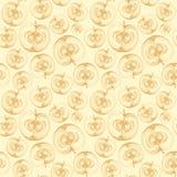 Jabłczany owocowy tapetowy bezszwowy wzór royalty ilustracja