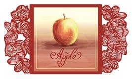 Jabłczany owocowy wektorowy wattercolor kwiat Obrazy Royalty Free
