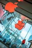 Jabłczany pionowo schody Fotografia Royalty Free