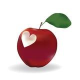 jabłczany serce Obraz Royalty Free