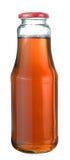 Jabłczany sok w szklanej butelce Obrazy Royalty Free