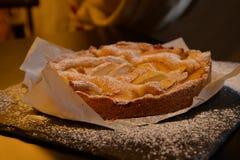 Jabłczany tarta Tradycyjny shortcrust ciasto Zdjęcie Stock