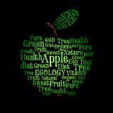 jabłczany wordcloud Zdjęcia Royalty Free
