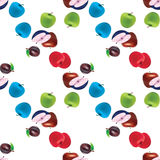 jabłczanych bonkrety lata owoc bezszwowy wzór Fotografia Stock