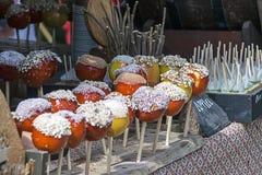 jabłek cukierku karmelu czekoladowy odbicia toffee Obraz Royalty Free