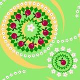 Jabłek i kwiatów bezszwowa tekstura Obrazy Royalty Free