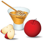 jabłek szklany hashanah miodu rosh Zdjęcie Royalty Free
