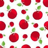 jabłka bezszwowy deseniowy czerwony Fotografia Royalty Free