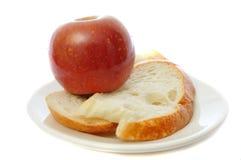 jabłka chleba talerz Zdjęcie Royalty Free