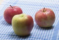 jabłka dojrzali trzy Zdjęcia Royalty Free