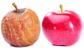 jabłka dwa Zdjęcia Royalty Free