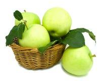 jabłka koszykowi Obraz Royalty Free