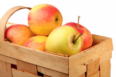 jabłka koszykowi Zdjęcia Stock