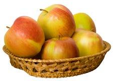 jabłka koszykowi Zdjęcia Royalty Free