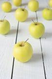 Jabłka na stole Obraz Stock