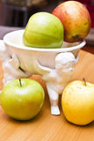Jabłka na stole Obraz Royalty Free