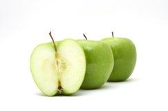 jabłka odizolowane white Fotografia Royalty Free