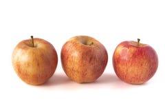 jabłka odizolowywali biel trzy Obrazy Royalty Free
