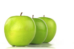 jabłka trzy zdjęcia royalty free