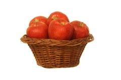 Jabłka w koszu. Obraz Royalty Free
