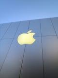 jabłka znaka sklepu biel Zdjęcia Stock