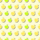 Jabłko Bezszwowy wzór Obrazy Royalty Free