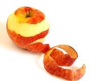 jabłko biel odosobniony czerwony Obrazy Royalty Free