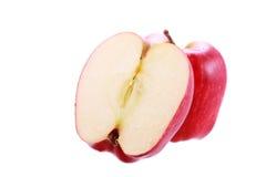 jabłko biel odosobniony czerwony Zdjęcie Royalty Free