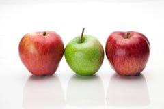 jabłko biel trzy Obrazy Stock