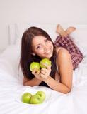 jabłko dziewczyna Obraz Royalty Free