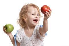 jabłko dziewczyna dwa Obraz Stock