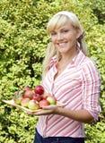 jabłko kobieta Zdjęcie Stock