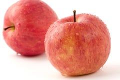 jabłko kropelek wody Obrazy Stock