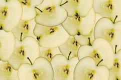 jabłko plasterki Fotografia Royalty Free