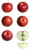 Jabłko serie Obrazy Royalty Free