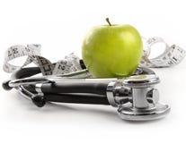 jabłko - stetoskopu zielony biel Obraz Stock